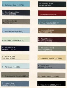 auto paint codes dupont automotive refinish colors ppg. Black Bedroom Furniture Sets. Home Design Ideas