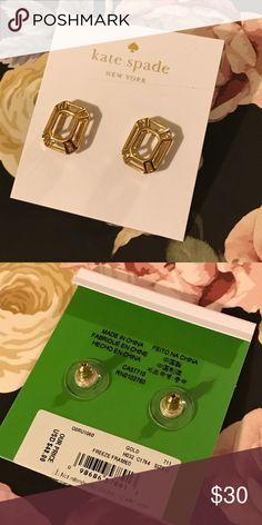 Kate Spade freeze framed earrings♠️ Brand new never worn! Dust bag included! kate spade Jewelry Earrings
