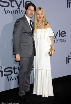 Date night: Rachel Zoe brought along her husband Rodger Berman for the party...