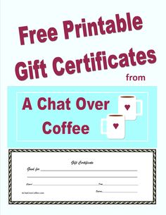 Personalized Gift Certificates Template Free Custom Gift Certificates With These Free Printables Make Great .