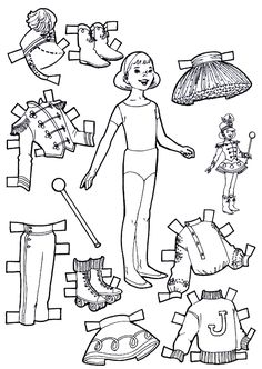 For Kids: Playtime Paper Dolls to Color and Cut Out.