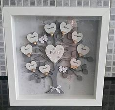 Personalised Family Tree Frame 9 x 9