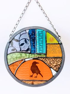Tweet! Painted glass soldered and leaded Fused Glass, Stained Glass, Glass Art, Art Projects, Kitchen, Cooking, Jar Art, Stained Glass Panels, Kitchens