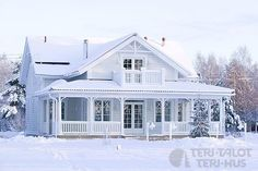 this house from teri talot (finnsh builder). but with a wrap around porch! different color as well