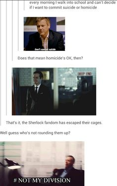 """The Sherlock fandom has escaped their cages. And Tumblr is at it again."" I love my bloody fandom. They make me crack up every single day."