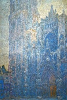 Rouen Cathedral, the Portal and the tour d'Albane, Morning Effect - Claude Monet