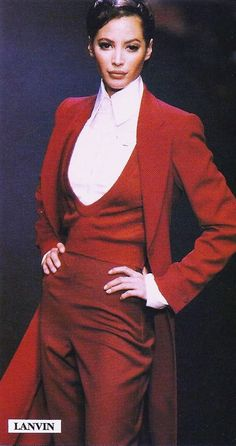Christy Turlington for LANVIN Couture Runway Show 1992