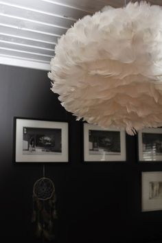 Feather Lamp, Bedroom