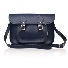 Zatchels Deep Navy Leather Satchel Bag