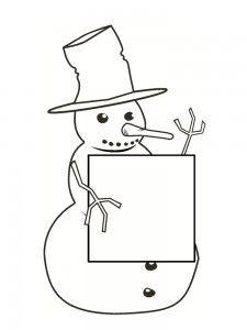 coloriages bonhomme de neige