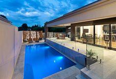7 metre long rectangle shape swimming pool in Ballarat East designed and built by Albatross Pools