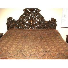 Pashmina Blanket Throw Reversible Wool Bedspread Indian Bedding Sofa Throw King Size Bed Cover  $112.00