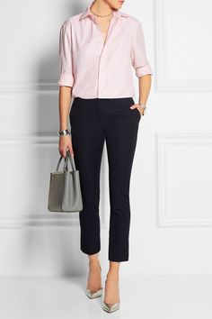 The pink cotton Oxford shirt will look chic at the office or styled with jeans at the weekend. The pastel-pink hue is flattering for any skin tone.
