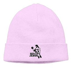 Jirushi Unisex Reps For Jesus - Gym Fitness Bodybuilding Beanie Cap Hat Ski Hat Caps Skull Cap Pink - Brought to you by Avarsha.com