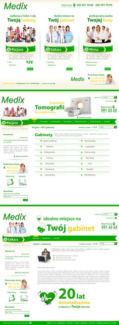 Website for a medical clinic Medix  |  Design: www.pinkelephant.pl /web design /layout /portfolio /web /design