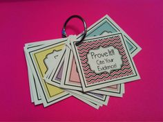 Mini poster key ring for students to cite evidence from text.