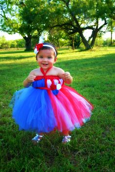 Patriotic Empire Waist Tutu Dress