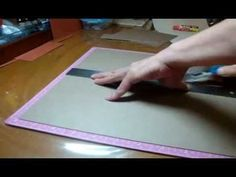 "RE-POST!! Simple 6"" by 6"" mini album Start to Finish -- Scrapbooking mini album - YouTube"
