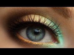 HD Trendy Mint & Gold Summer Smokey Eye Makeup Tutorial [Redo] - YouTube