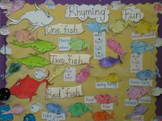 One Fish Two Fish Red Fish Blue Fish Bulletin Board  Dr Seuss