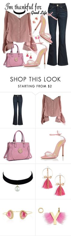 """""""Thanks For Good Life"""" by fsjamazon ❤ liked on Polyvore featuring Wit & Wisdom, Jacquemus, Ettika and Fendi"""