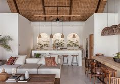 Chic Tropical Open-Plan Living Villa in Bali Interior Design Inspiration, Home Interior Design, Interior And Exterior, Interior Decorating, Interior House Colors, Design Ideas, Design Interiors, Design Design, Bali Style Home
