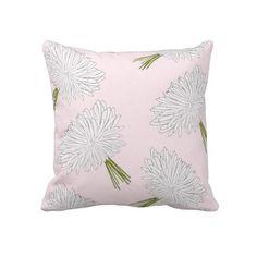 Romantic Flowers Throw Pillow