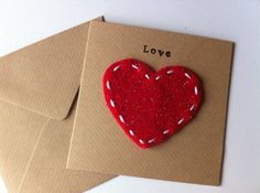 Valentines Card, Anniversary Card, Heart Felt Card