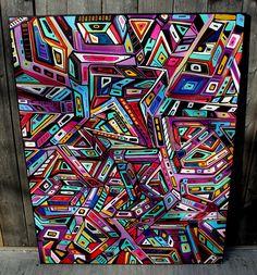 Grids-48'' X 36'' X 1''-oil/acrylic/canvas