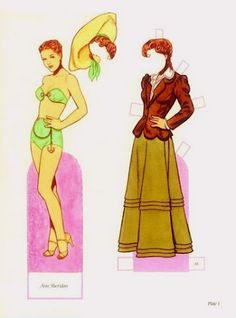 Glamorous Stars of the Forties Paper Dolls by Tom Tierney - Dover Publications, Inc.,1994: Plate 1 (of 16)