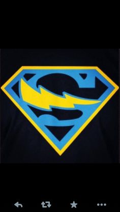 Found this online or on FB, can't remember. Blue Superman symbol with a Chargers bolt. Perfect!