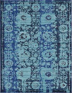 For the living room. Blue 275cm x 365cm Casablanca Rug | Area Rugs | Rugs.ca
