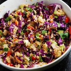 Crunchy Thai Quinoa Salad  - Make it all the time and love it. I just keep forgetting to pin it so I can find it the next time I want it! I altar the ratio on some of the sauce ingredients though.