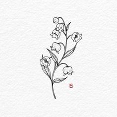 Lily of the valley for day 1 of Inktober.- Lily of the valley for day 1 of Inktober. _________________ … – – # for # lily of the valley - Tattoos Skull, Line Tattoos, Body Art Tattoos, Small Tattoos, Sleeve Tattoos, Small Lily Tattoo, Tatoos, Lirio Tattoo, May Birth Flowers