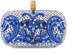 off the wall..pucci pearl + stone embroidered canvas clutch.  that french blue is sick
