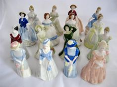 Wade Complete Set of 16 My Fair Ladies Set 1 and 2 (Perfect) in Pottery, Porcelain & Glass, Porcelain/ China, Wade, Whimsies | eBay