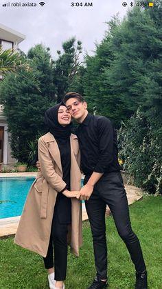 Casual Hijab Outfit, Hijab Dress, Modest Dresses, Modest Outfits, Cute Outfits, Cute Muslim Couples, Cute Couples, Junger Johnny Depp, Hijabi Wedding