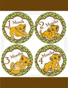 Monthly Baby Onepiece Sticker 13 Lion King Inspired Monthly  Stickers: on Etsy, $8.99. Buying these!!