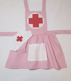 This item is unavailable - Pink child& nurse apron. Dress up nurse costume. by MollysCellar - Child Nursing, Nursing Clothes, Dress Up Outfits, Dress Hats, Knot Dress, Sewing For Kids, Diy For Kids, Kids Dress Up, Pink Kids