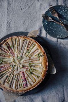 Gluten-free Rhubarb Goat-Cheese Cake - Our Food Stories