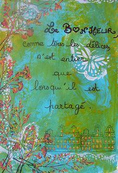 art journal bonheur 6 | Flickr - Photo Sharing!