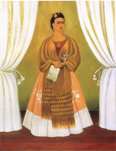 Self-Portrait Dedicated to Leon Trotsky (Between the Curtains) - Frida Kahlo, NMWA