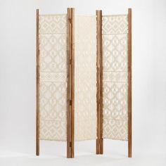 This Woven Macrame Screen is hand woven to add a bit of character and an artisan touch to your space