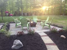 The firepit patio is finally all done!