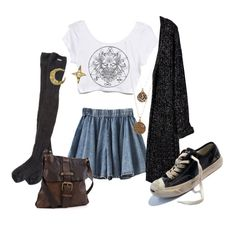 A fashion look from October 2014 featuring RVCA socks and Bee Charming necklaces. Browse and shop related looks.
