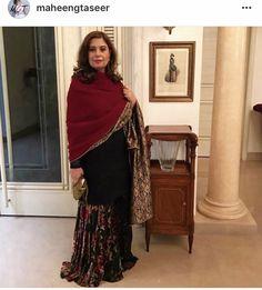 Two-way shawl by Maheen ghani taseer. Velvet and Jamavar