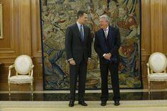 Su Majestad el Rey con el representante de Nueva Canarias (NCa), Pedro Quevedo Iturbe Palacio de La Zarzuela. Madrid, 18.01.2016