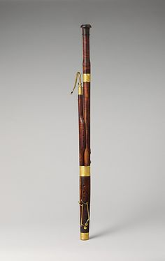 "1813-1825 French Bassoon in C at the Metropolitan Museum of Art, New York - From the curators' comments: ""The instrument has two alternative wing joints for high and low pitch, and a screw to adjust the bocal. The keys and metal parts were designed in 1813 and made by C. H. Felix in Paris, as an inscription states. Felix's design consists only in the decorative aspect of the keys, not in their number and placement."""