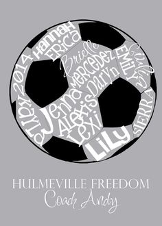 Soccer Ball... Typography Art by lesleygracedesigns on Etsy