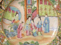 mandarin period design images | ... Chinese Export Porcelain Mandarin Subject Tazza or Comport at 1stdibs